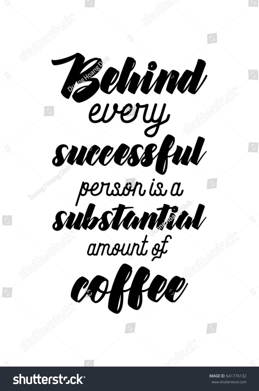 Graphic Design Quotes Coffee Related Illustration Quotes Graphic Design Stock Vector