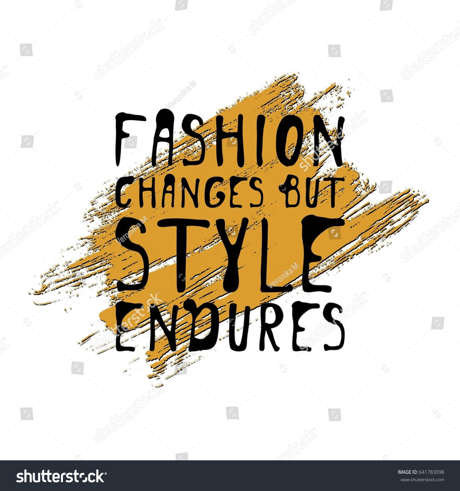 Stock Quote T Fashion Changes Style Endures Motivational Quote Stock Vector