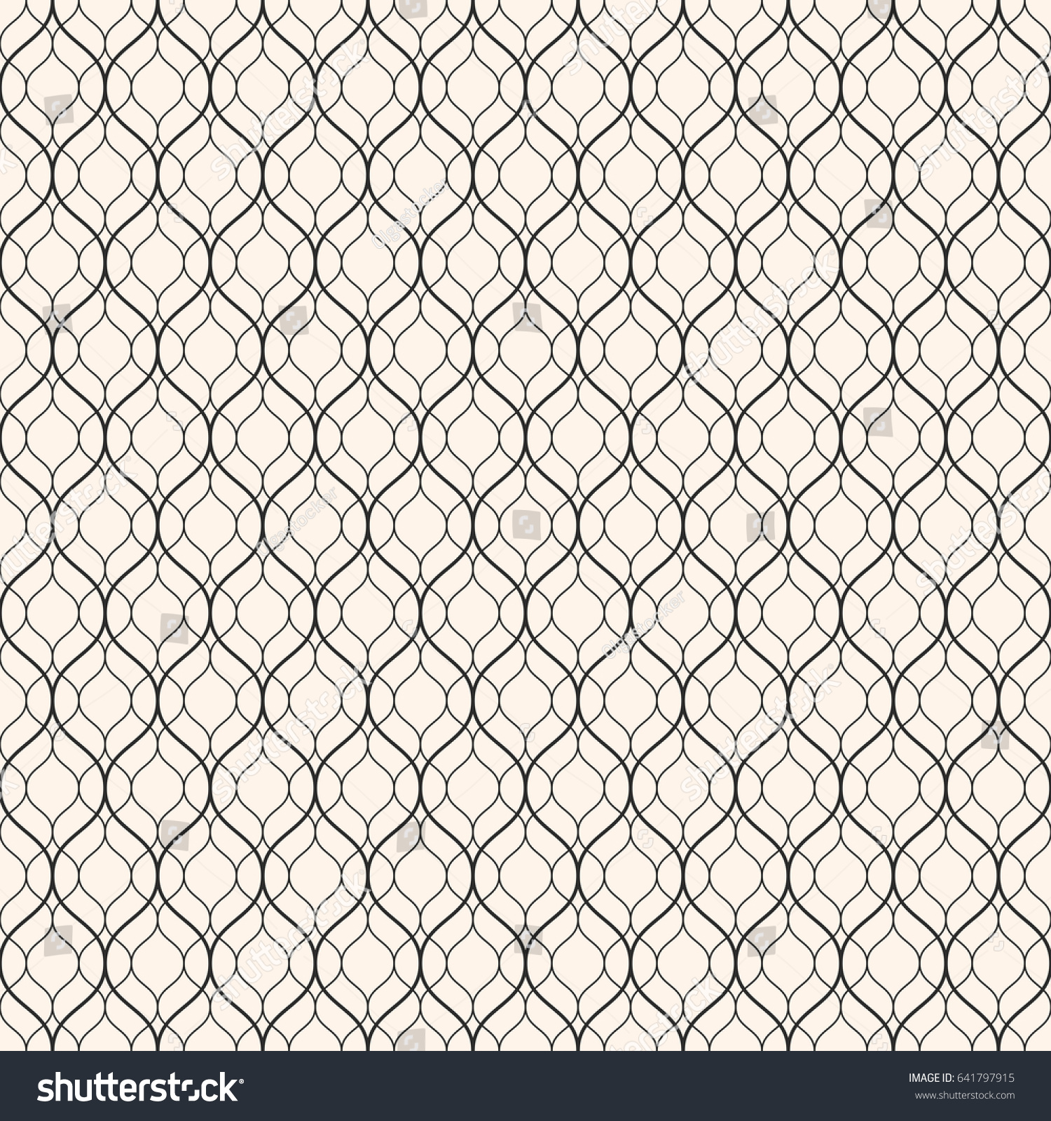 Line Texture Pattern : Vector seamless pattern thin wavy lines stock