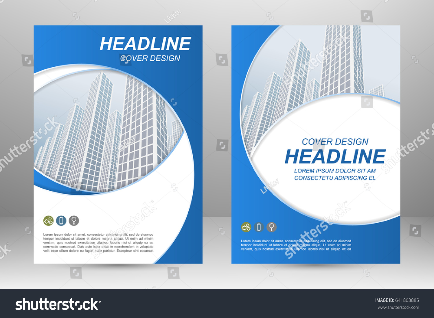 vector flyer template layout design business stock vector royalty