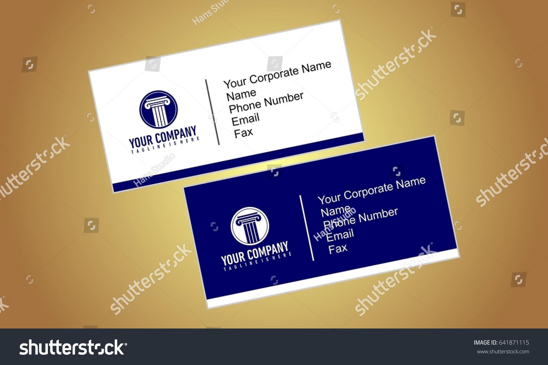 Business Card Sample Stock Illustration 641871115 - Shutterstock