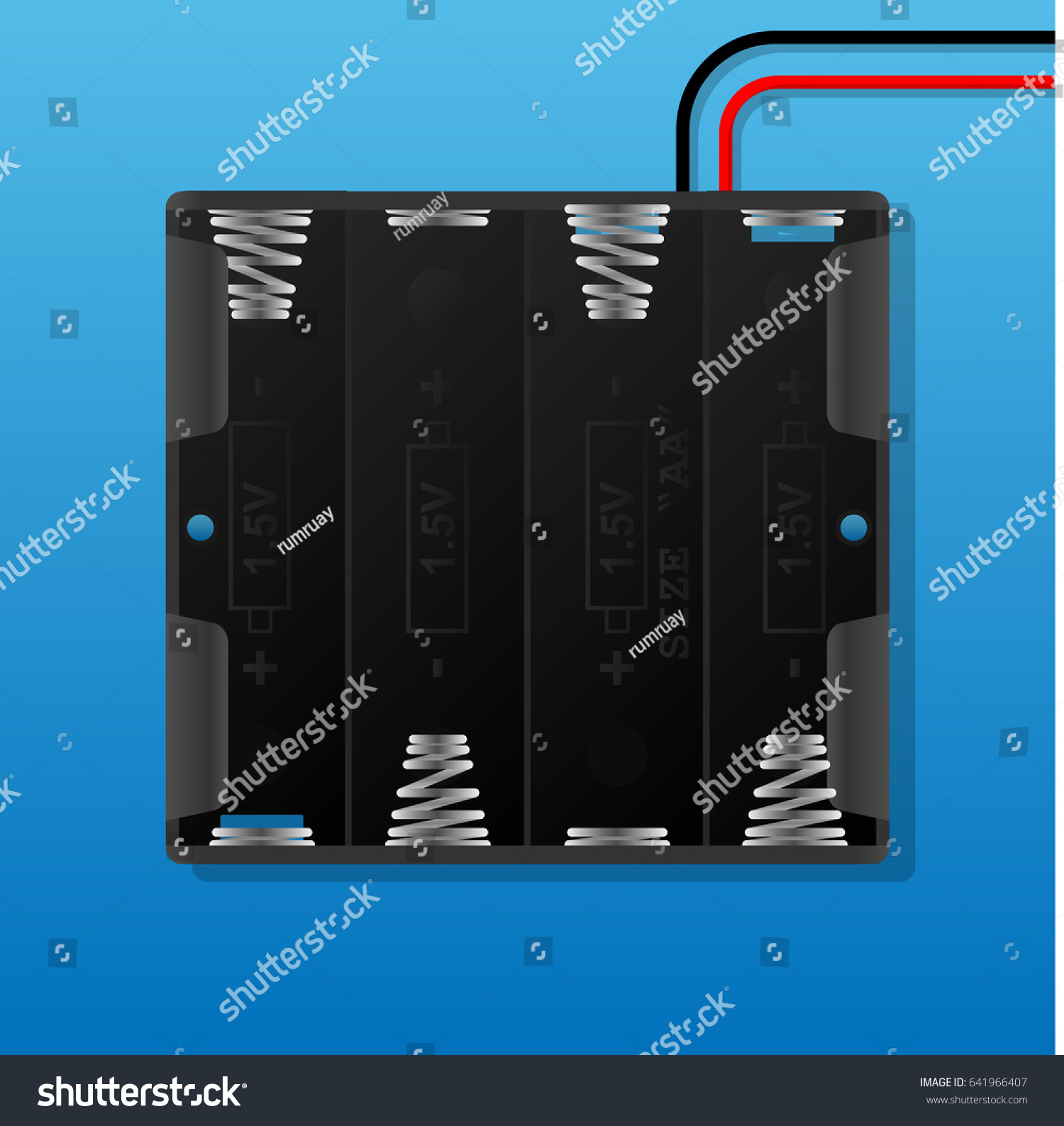 Aaa Battery Holder Wiring Stock Vector Royalty Free 641966407 Series Parallel Pack With
