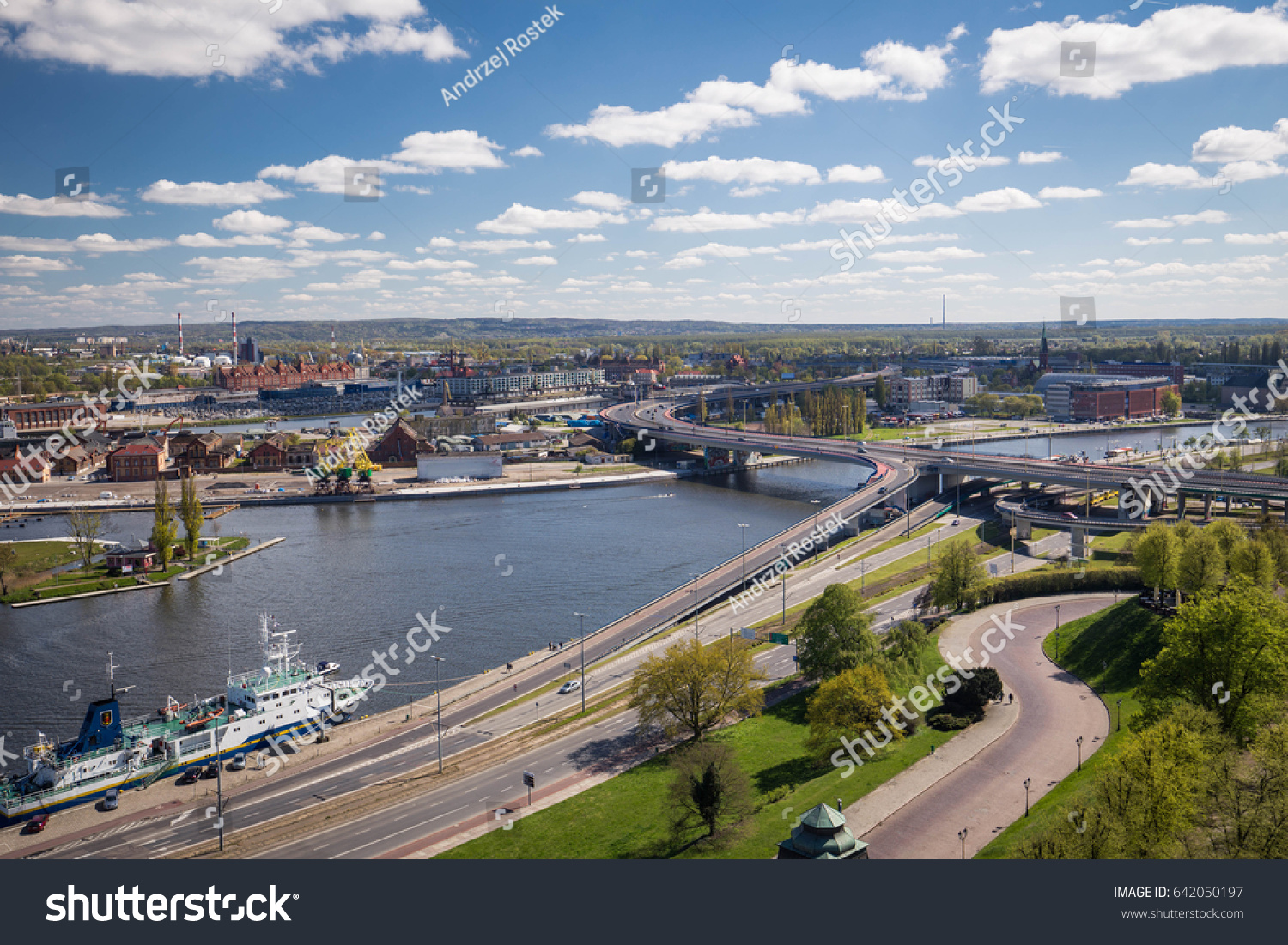 Szczecin  / Panorama of the historical part of the city #642050197