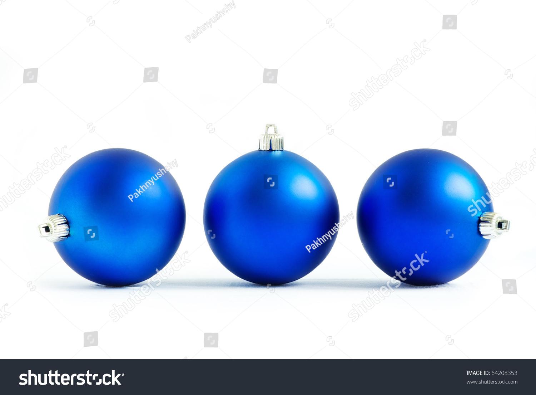 id 64208353 - Blue Christmas Balls