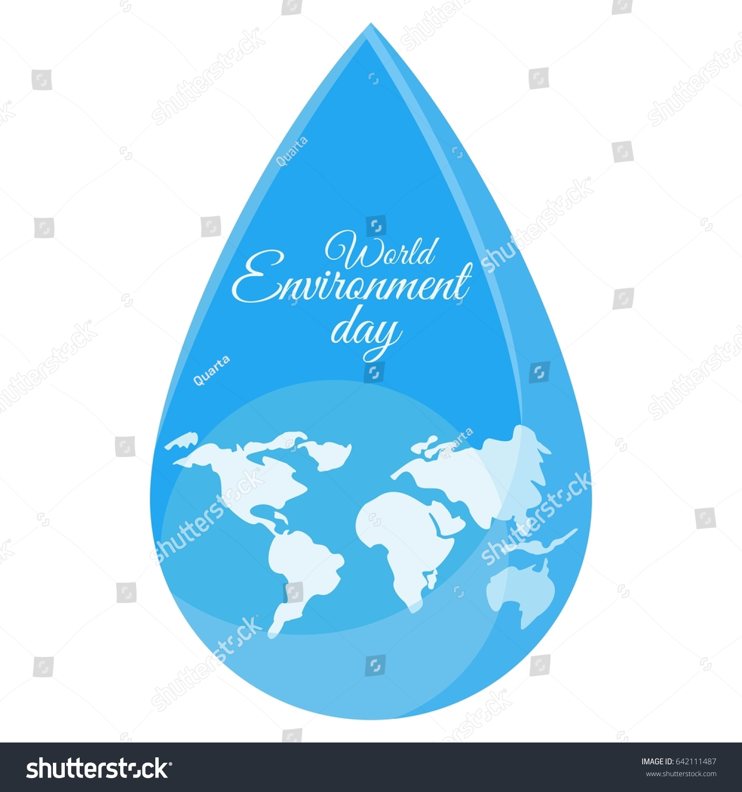 Planet drop world map water drop stock vector 642111487 shutterstock world map in water drop flat vector cartoon illustration objects gumiabroncs Gallery