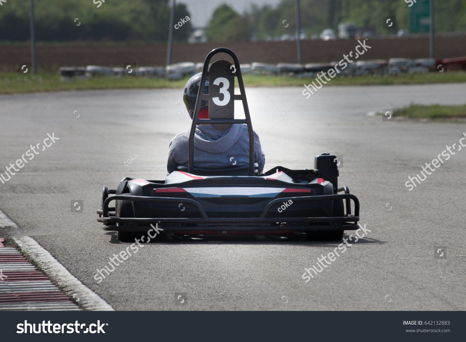 Man Drive Go Kart On Track Stock Photo (Edit Now)- Shutterstock