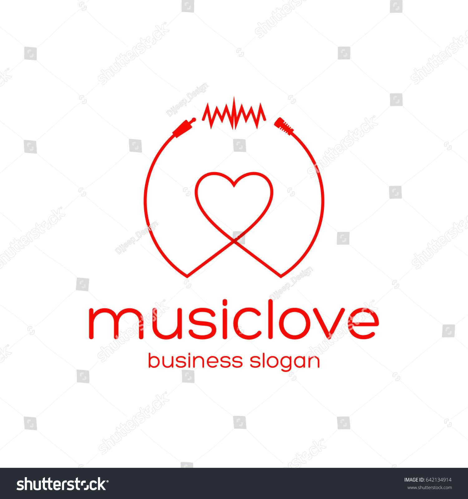 Music love logotype elegant logo design stock vector 642134914 music love logotype elegant logo design templateeat logo suitable for all types of biocorpaavc Gallery
