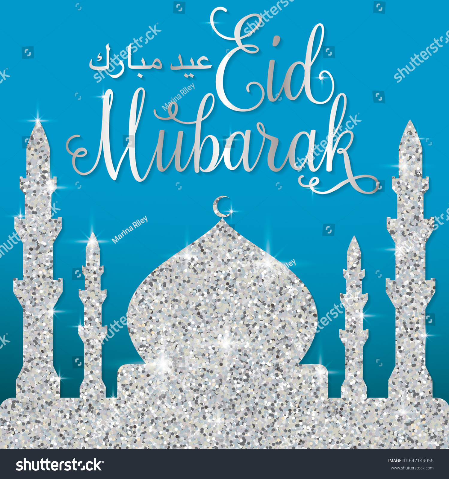 Filigree glitter mosque eid mubarak blessed stock vector 642149056 filigree glitter mosque eid mubarak blessed eid card in vector format kristyandbryce Image collections