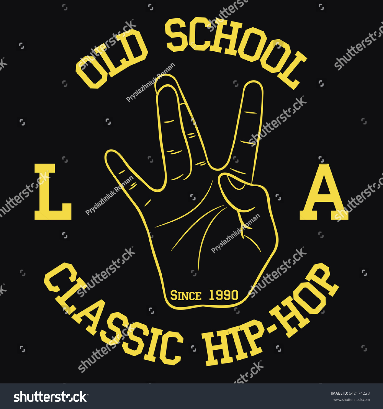 Design t shirts los angeles - Los Angeles Hip Hop Typography For Design Clothes T Shirts Print With