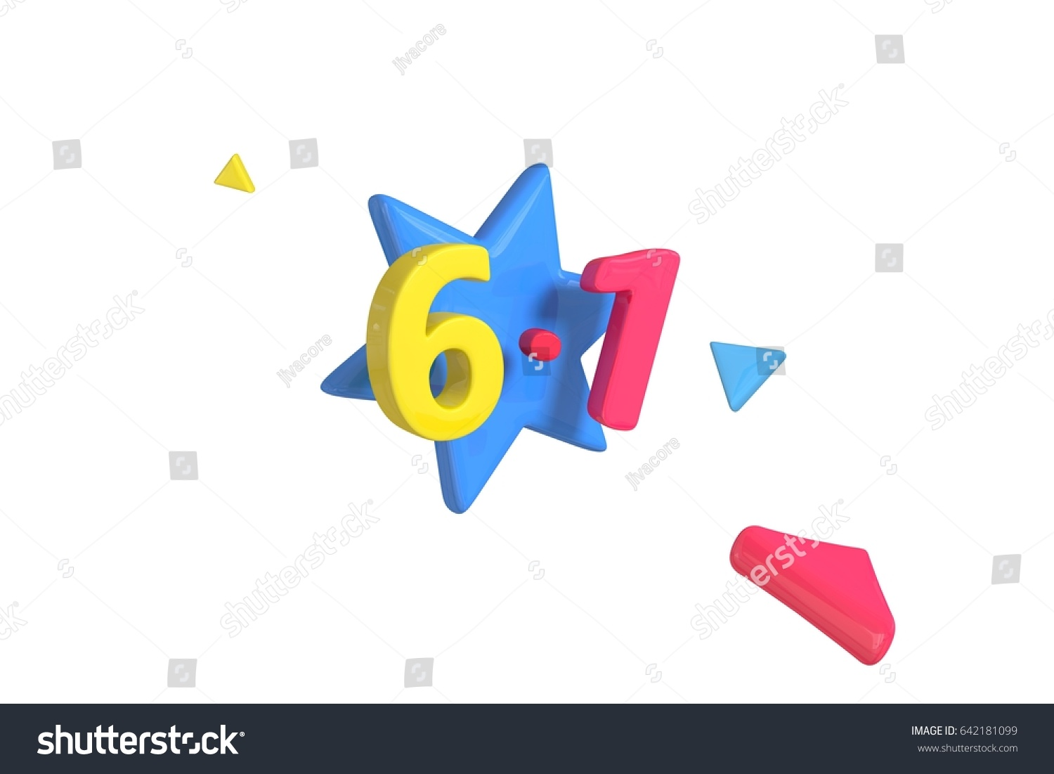 3d rendering colorful letter form word stock illustration 3d rendering colorful letter form a word 61 with some cute star or buycottarizona Images