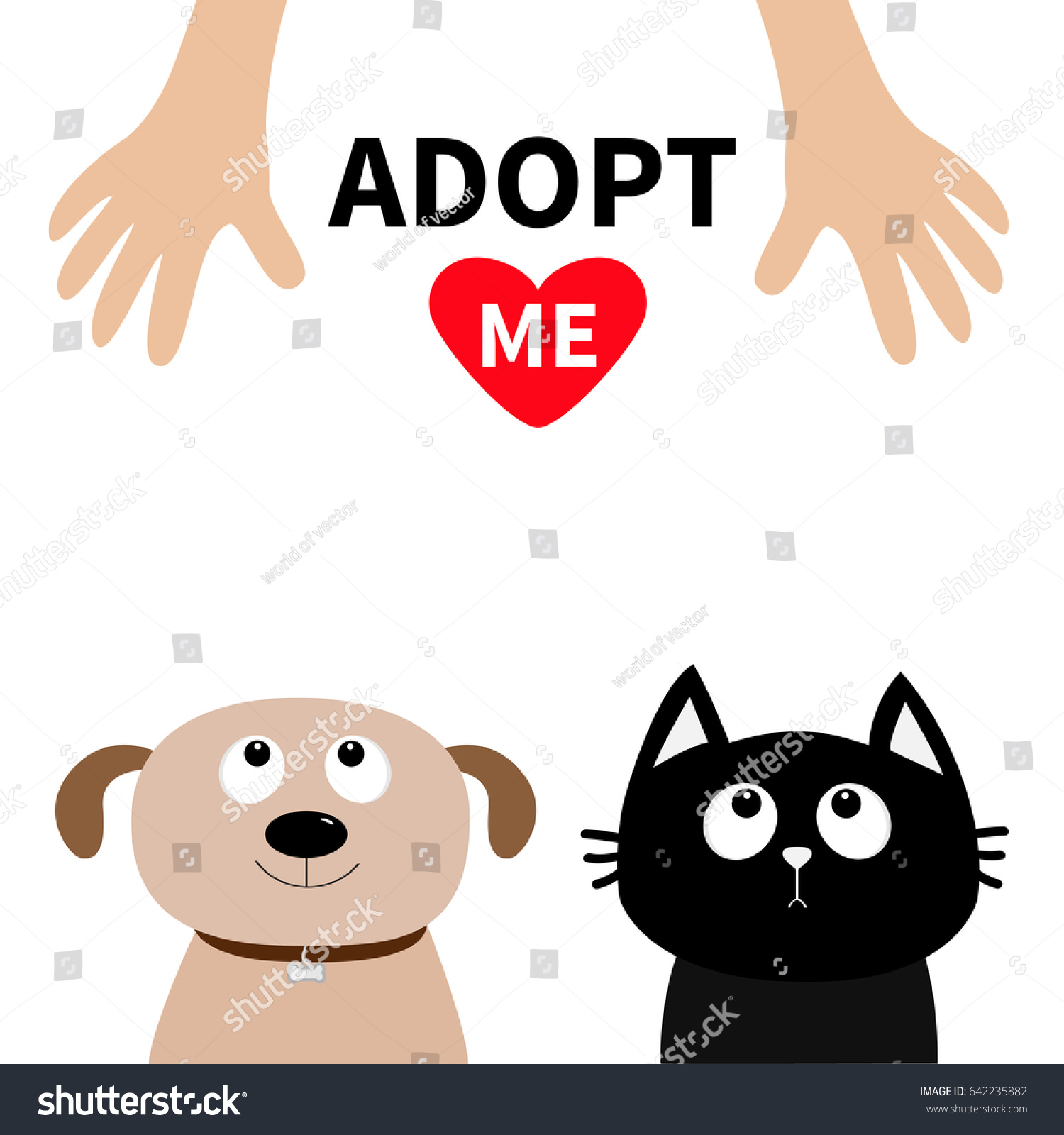Human Hand Adopt Me Dont Buy Stock Vector Royalty Free 642235882