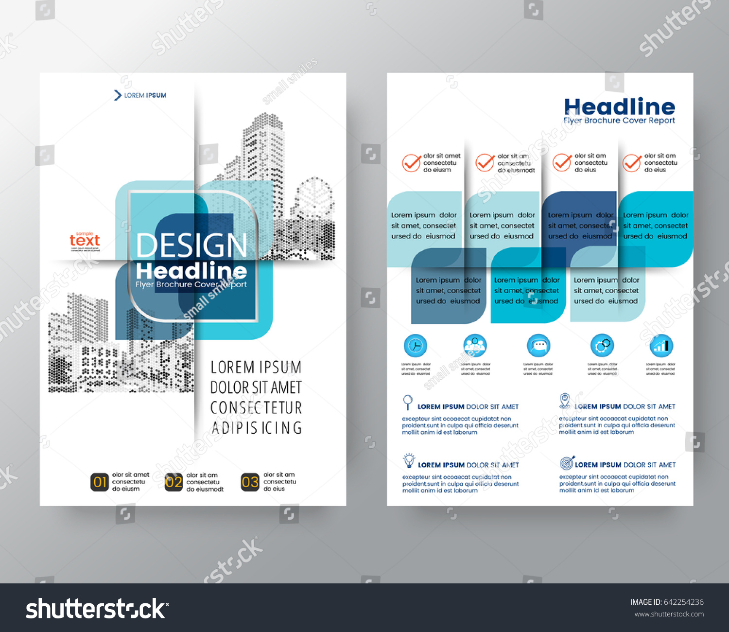 Poster design size - Abstract Blue Cross Graphic Element Vector Brochure Cover Flyer Poster Design Layout Template In A4 Size