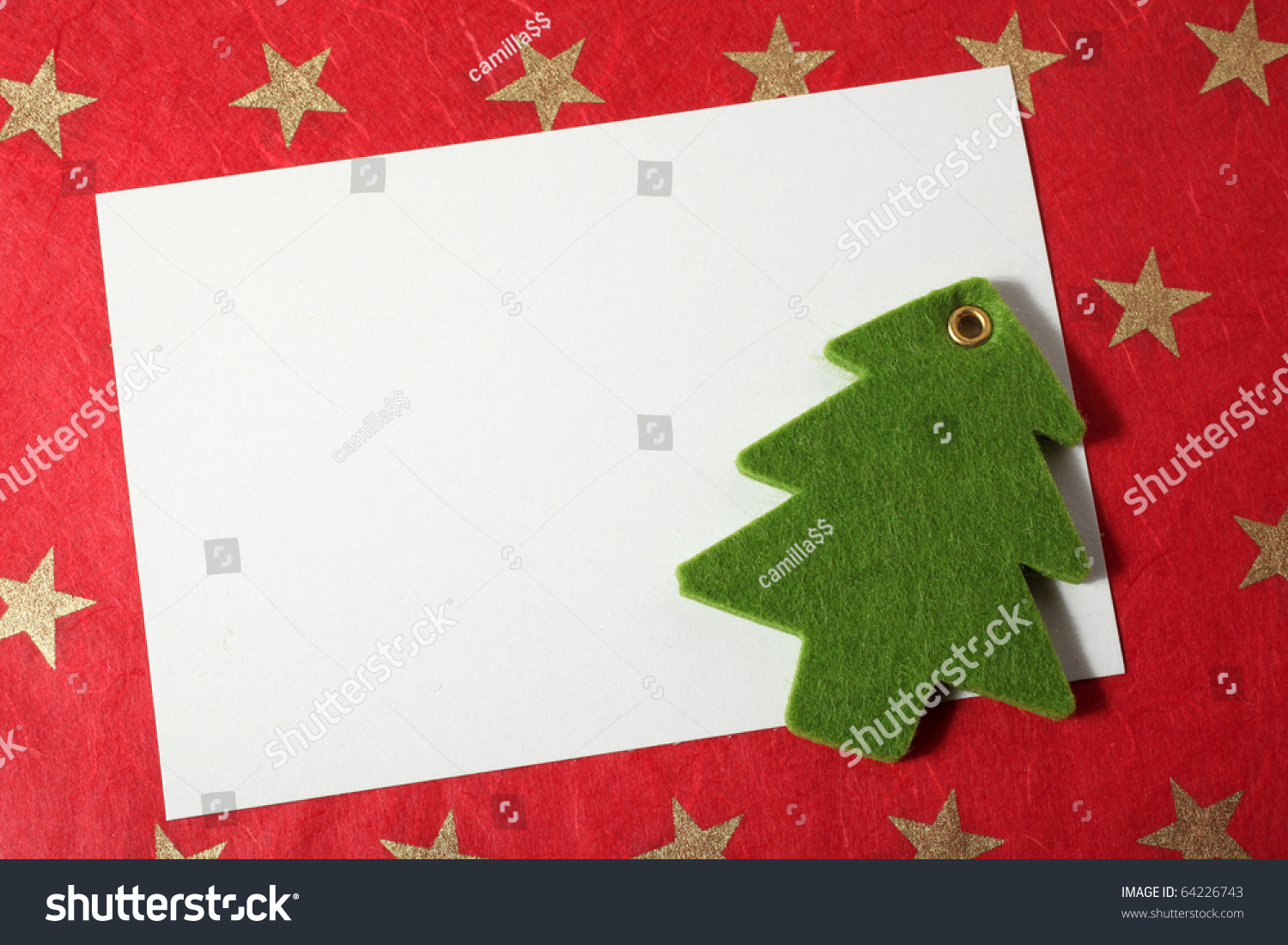 Christmas Card Decoration Insert Text Stock Photo (Edit Now ...
