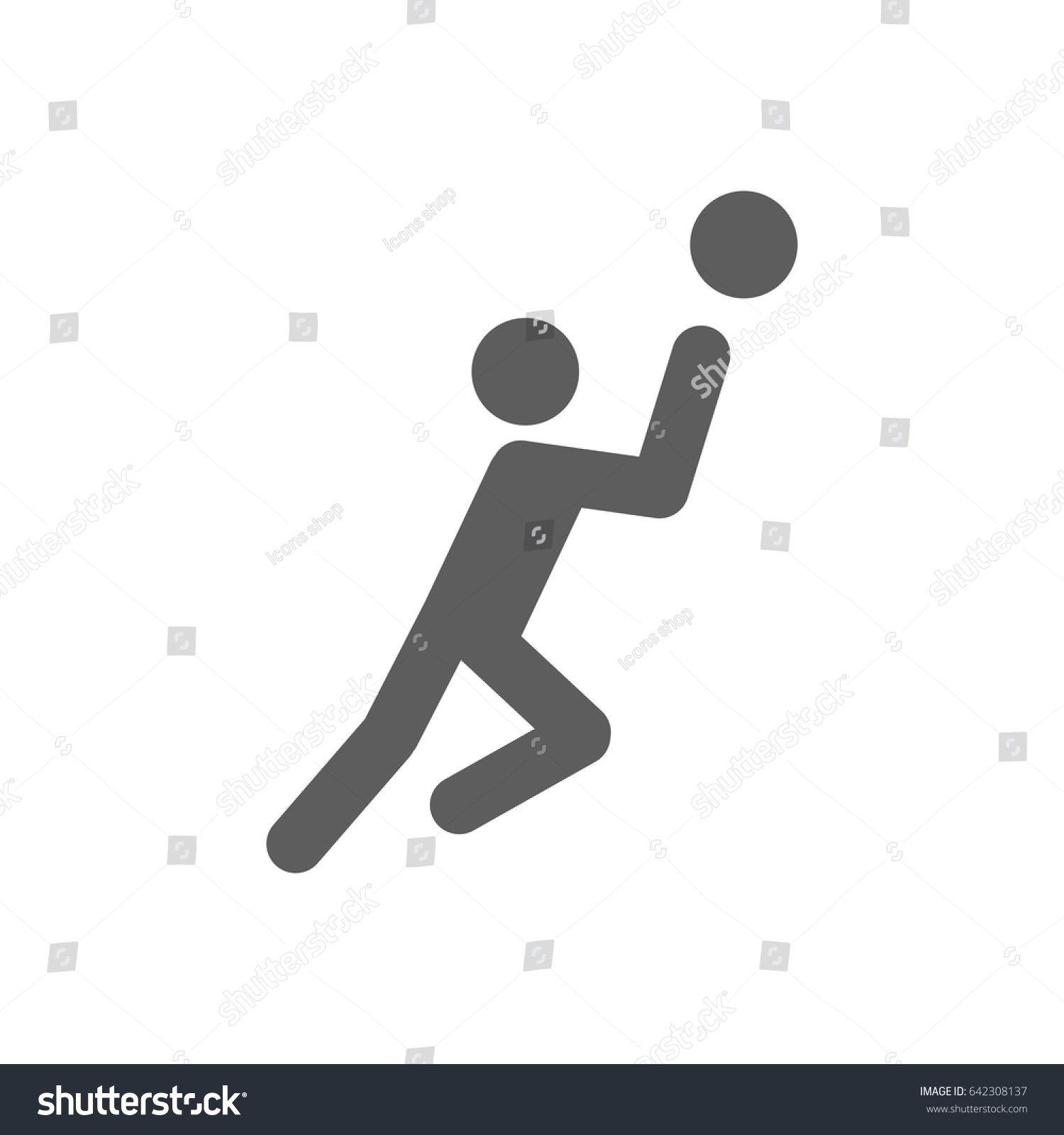 Basketball player icon trendy flat style stock vector 642308137 basketball player icon in trendy flat style isolated on white background award symbol for your biocorpaavc Choice Image