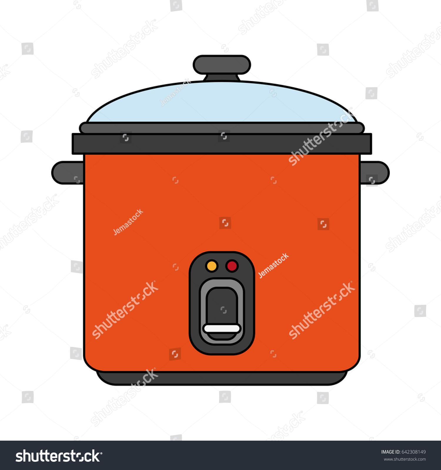 Cartoon Electric Cooker ~ Color image cartoon rice electric cooker stock vector