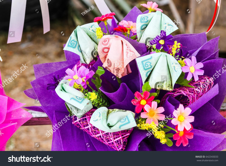 Bouquet Colorful Thai Money Flowers Bouquet Stock Photo Edit Now