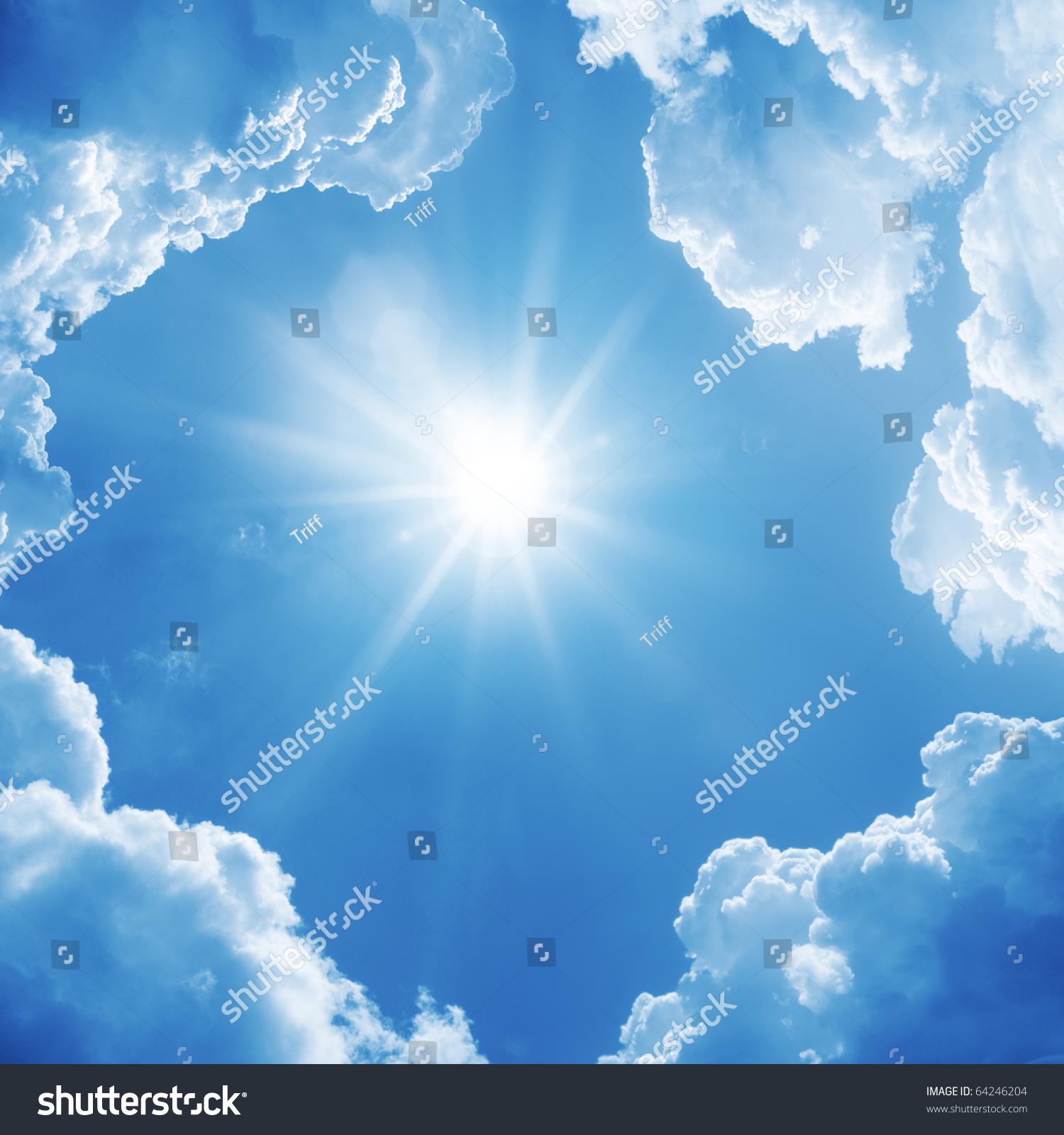 Солнце и облака на потолке своими руками