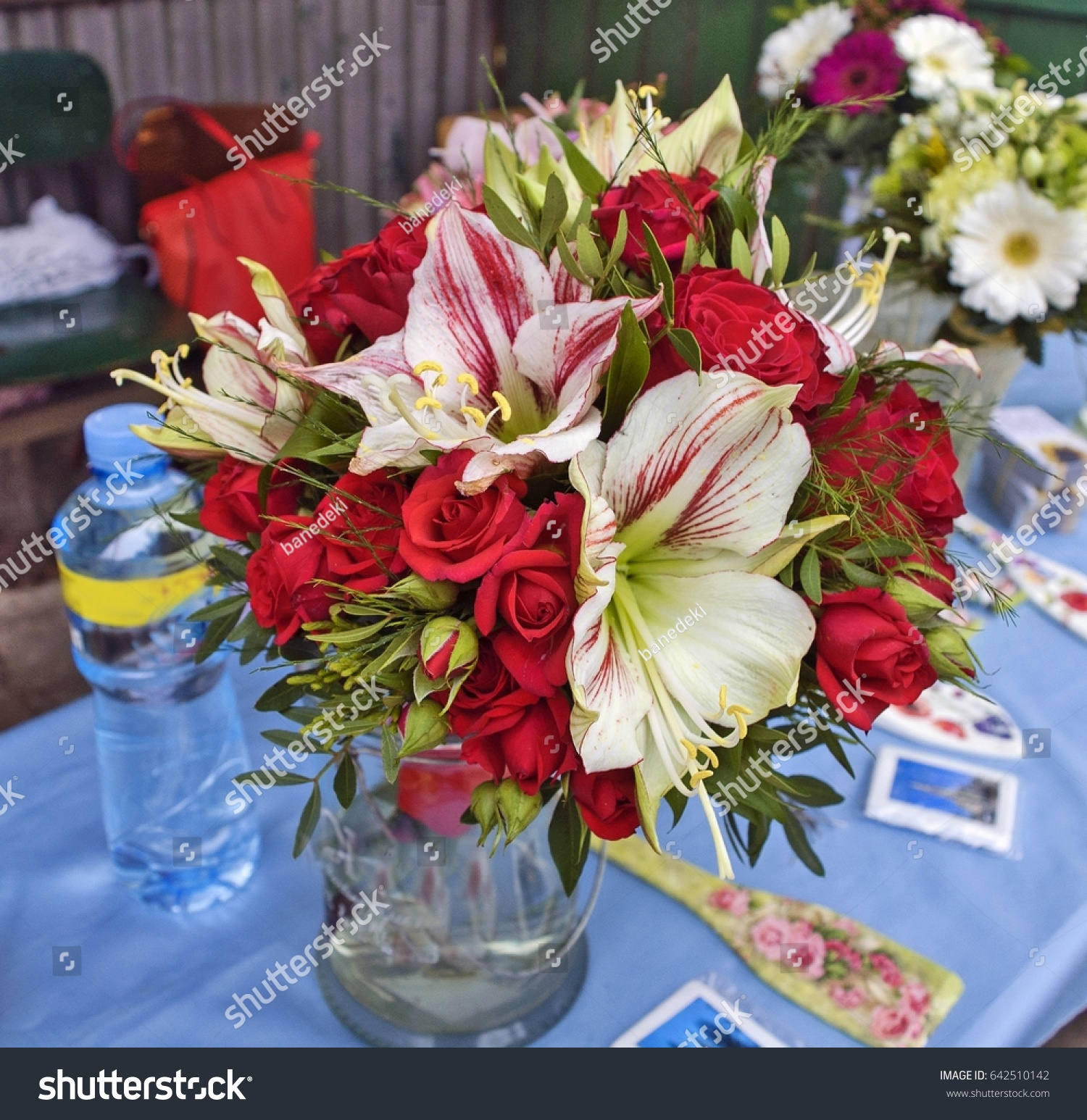 Beautiful Fragrant Bouquet Colorful Flowers Market Stock Photo ...