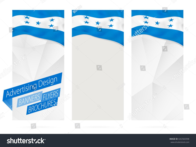 Design Banners Flyers Brochures Flag Honduras Stock Vector Royalty