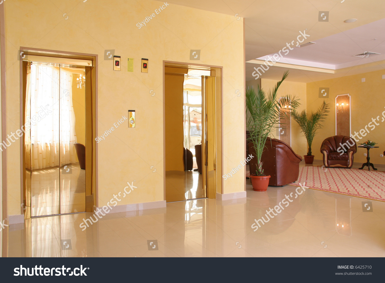 Hotel modern reception indoor design elevator for Indoor elevator