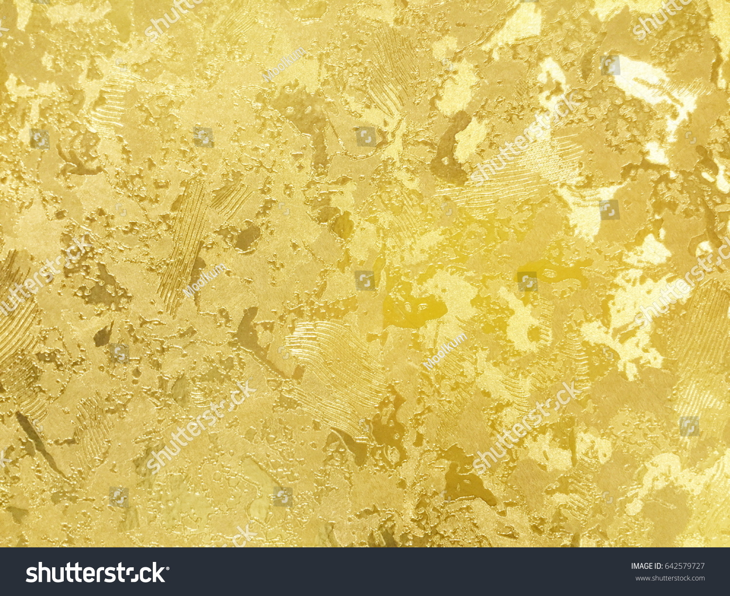 Abstract Gold Color Painted On Grunge Stock Photo (Edit Now ...
