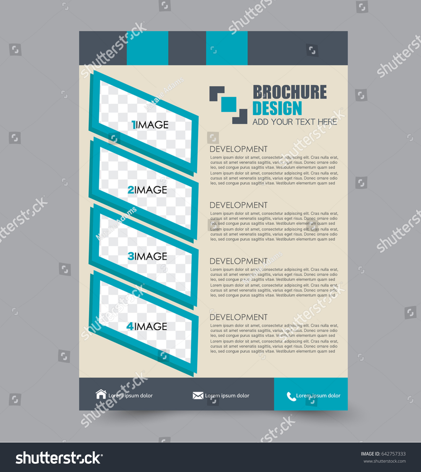 Flyer Template. BUsiness Brochure. Annual Report Cover. Editable A4 Poster  For Design,