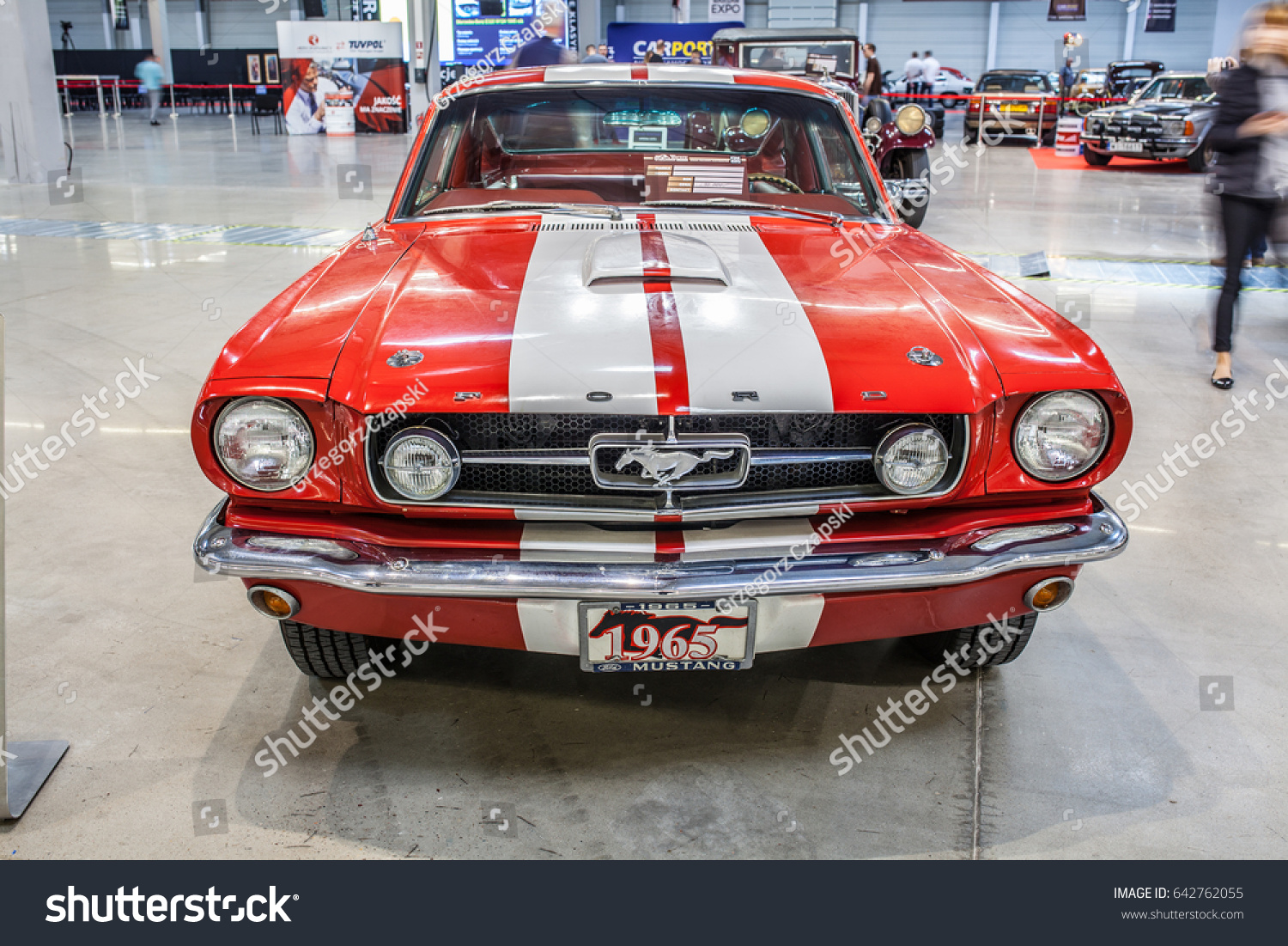 Nadarzyn poland may 13 2017 warsaw oldtimer show ford mustang gt 350
