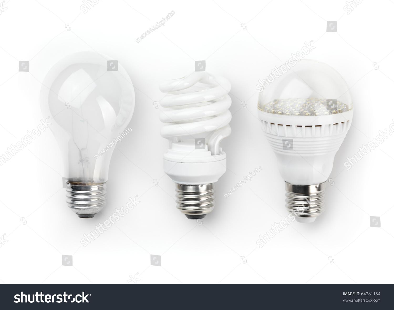 Three Generations Light Bulbs Regular Incandescent Stock Photo 64281154 Shutterstock
