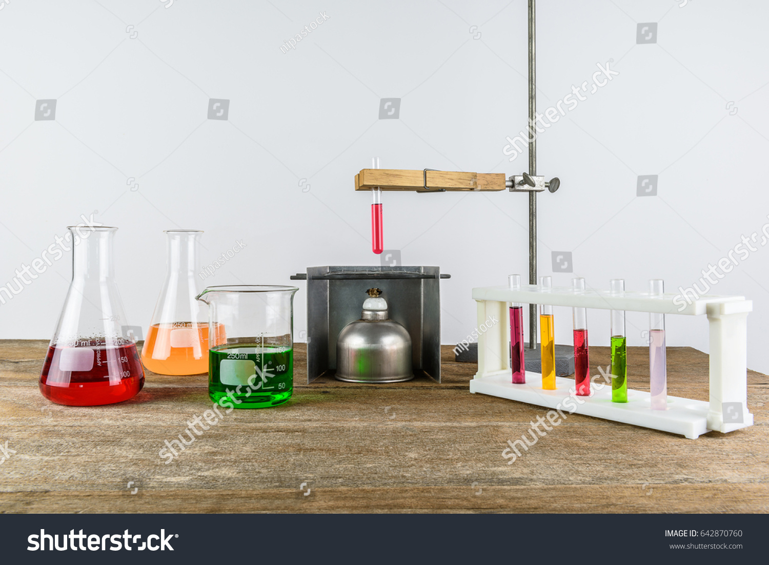 Laboratory Equipment Test Tube Holder Clamps Stock Photo (Edit Now