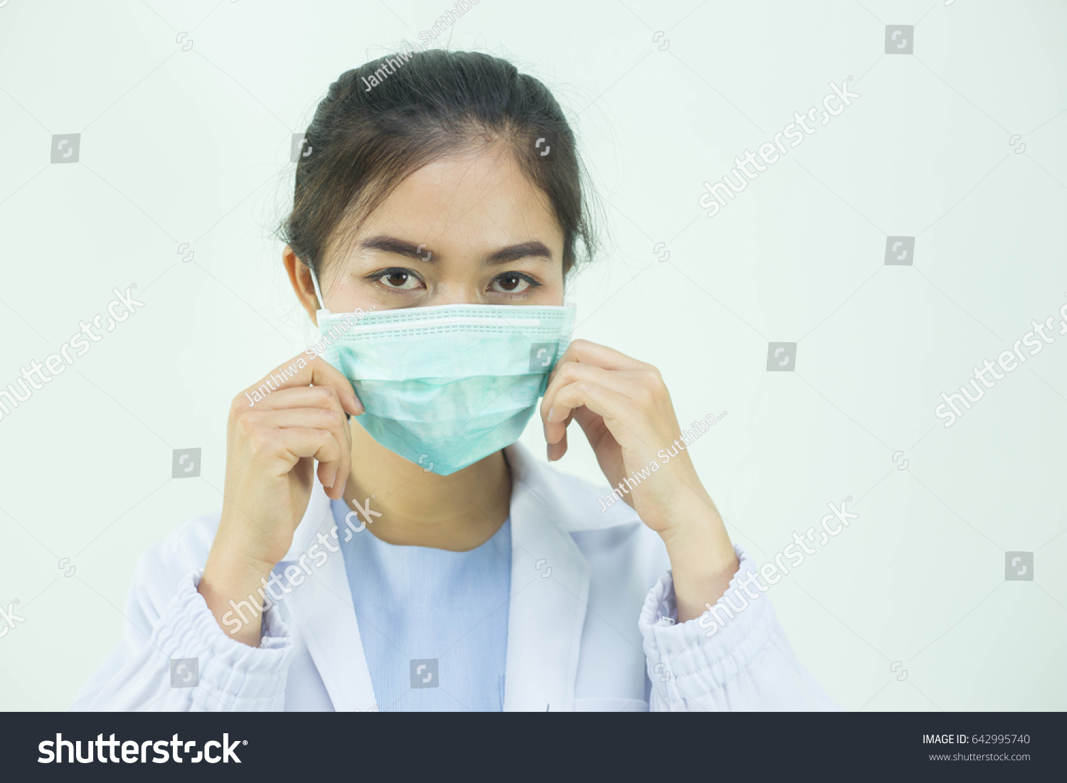 Mask Asian Surgical Wearing edit Now Photo Woman Stock Doctor
