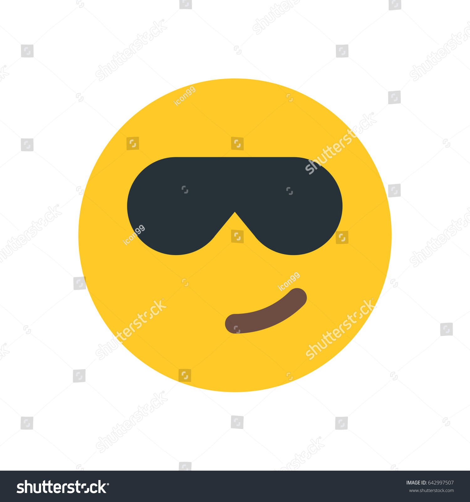 Cool emoji sunglasses stock vector 642997507 shutterstock cool emoji with sunglasses biocorpaavc Images