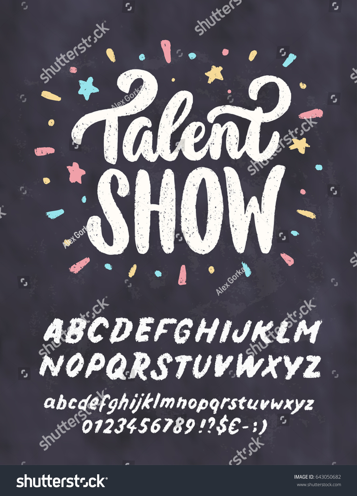 talent show vector chalkboard sign template