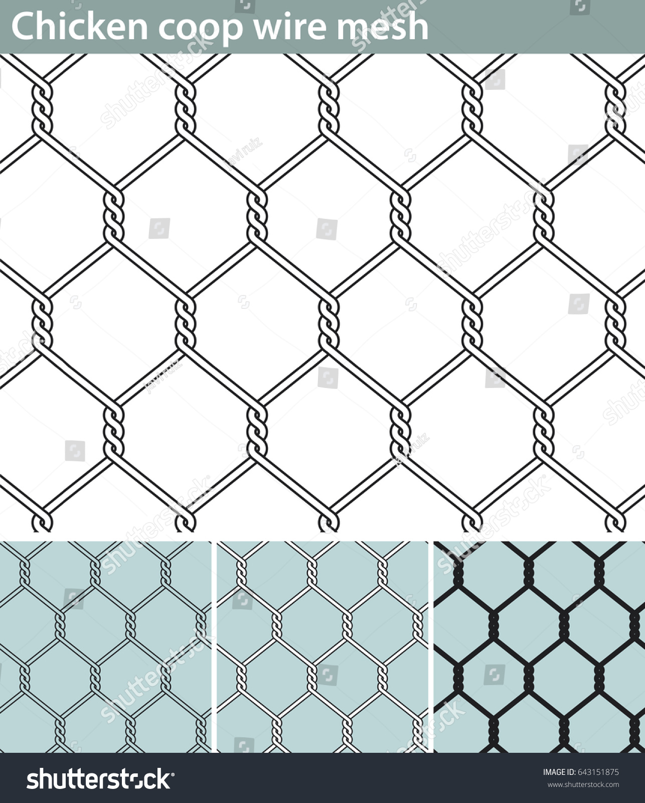 Chicken Wire New Three Different Versions Stock Vector HD (Royalty ...