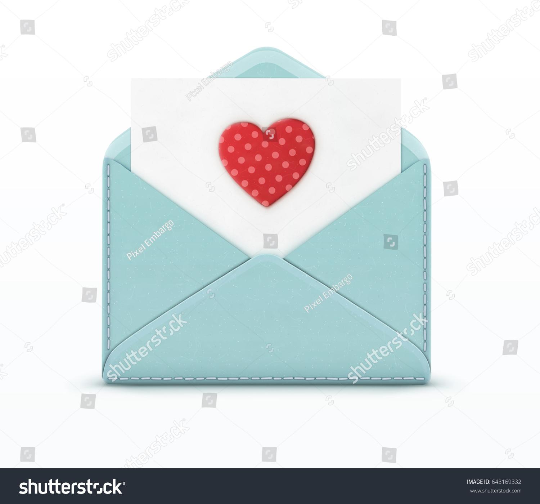 Конверт с сердечками