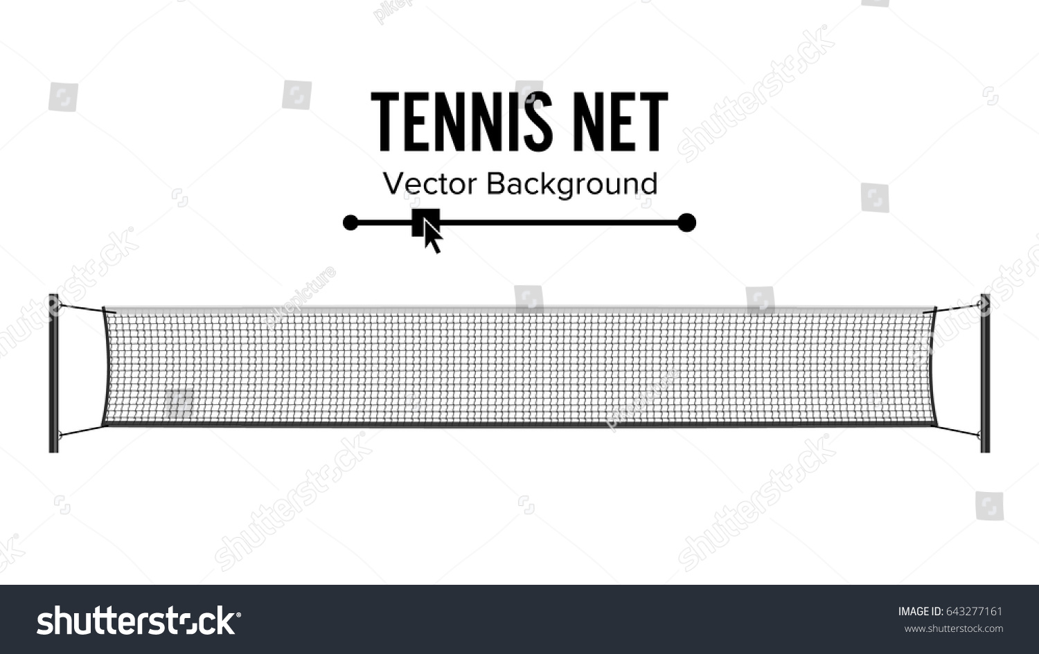 Tennis Net Vector Realistic Net Used Stock Vector (Royalty Free ...