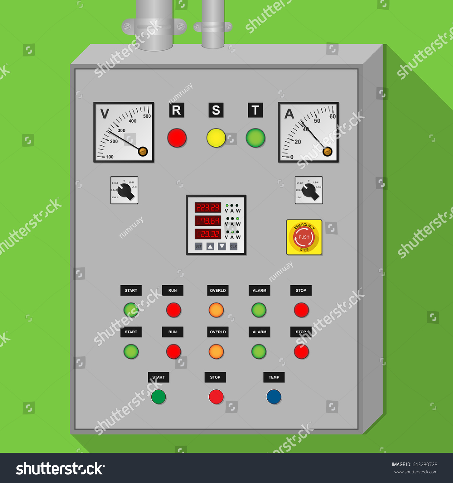 Electrical Panel Cabinet Industrial Stock Vector Royalty Free And In