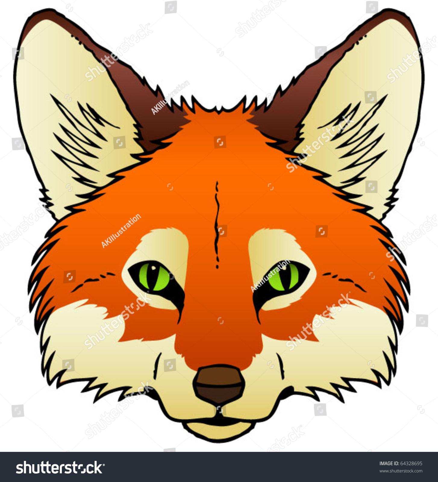Cute cartoon fox face - photo#6