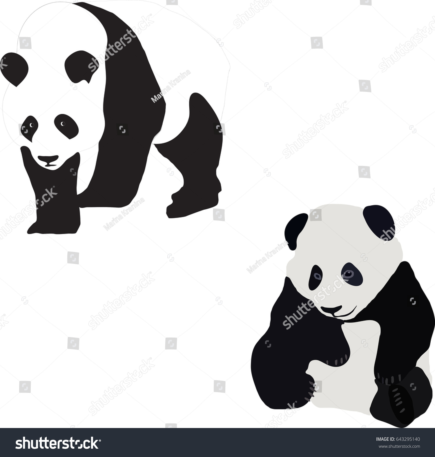 Panda Bear Symbol China Stock Vector Royalty Free 643295140