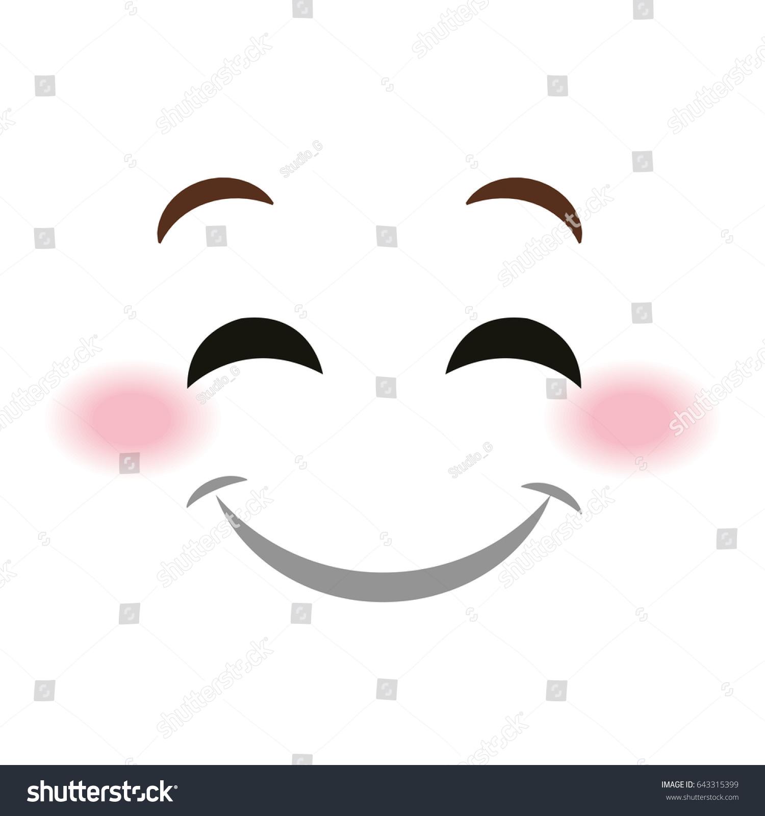 happy face emoticon kawaii style ez canvas