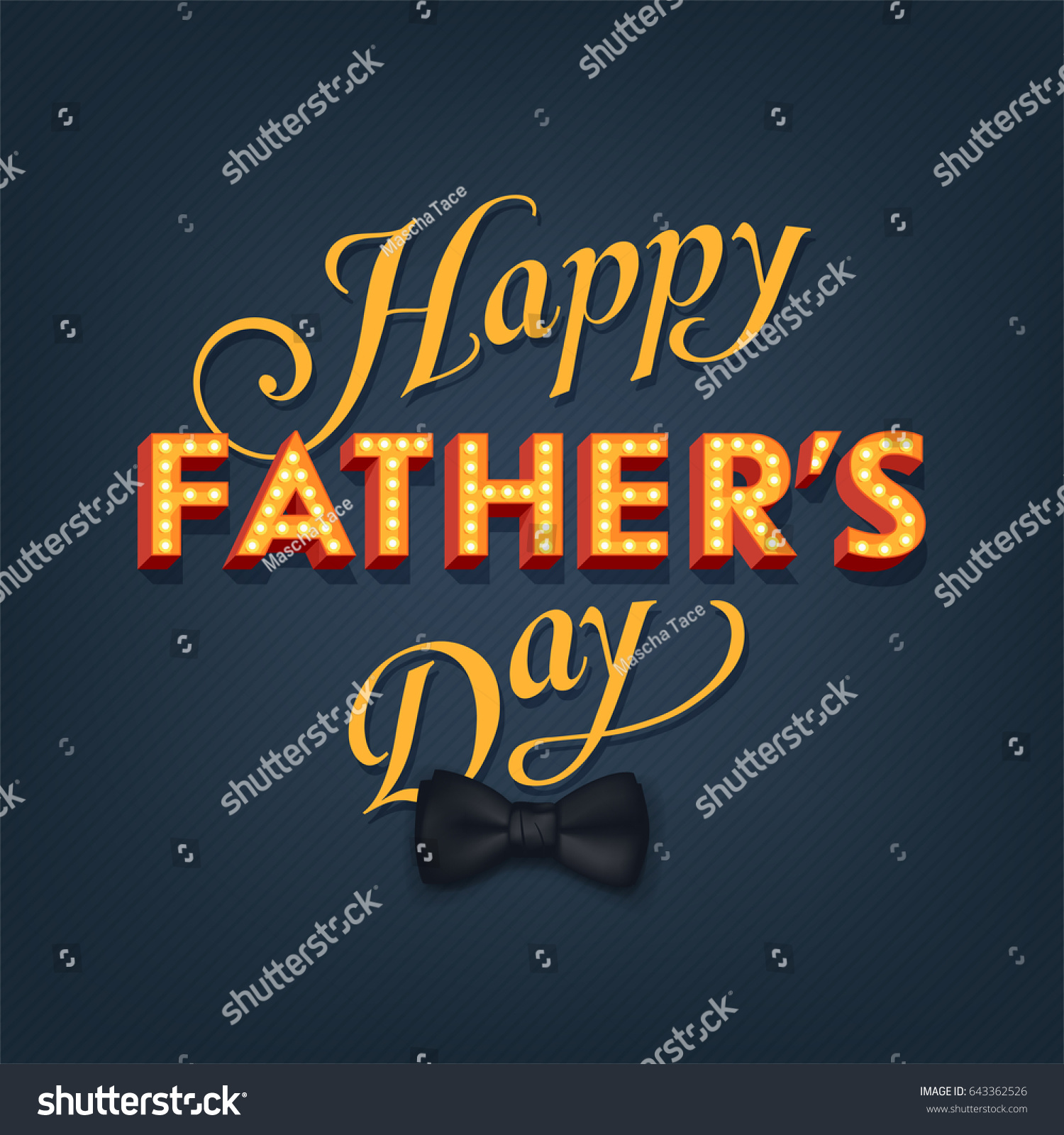 Cool Vector Fathers Day Greeting Card Stock Vector Royalty Free