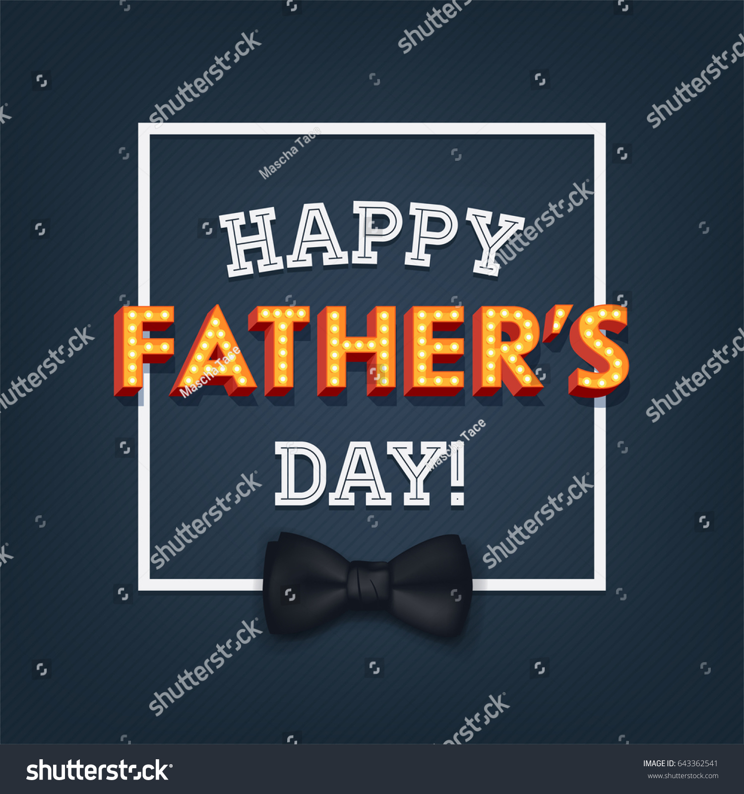 Cool vector fathers day greeting card stock vector royalty free cool vector fathers day greeting card or web banner design with lit up marquee volumetric letters m4hsunfo