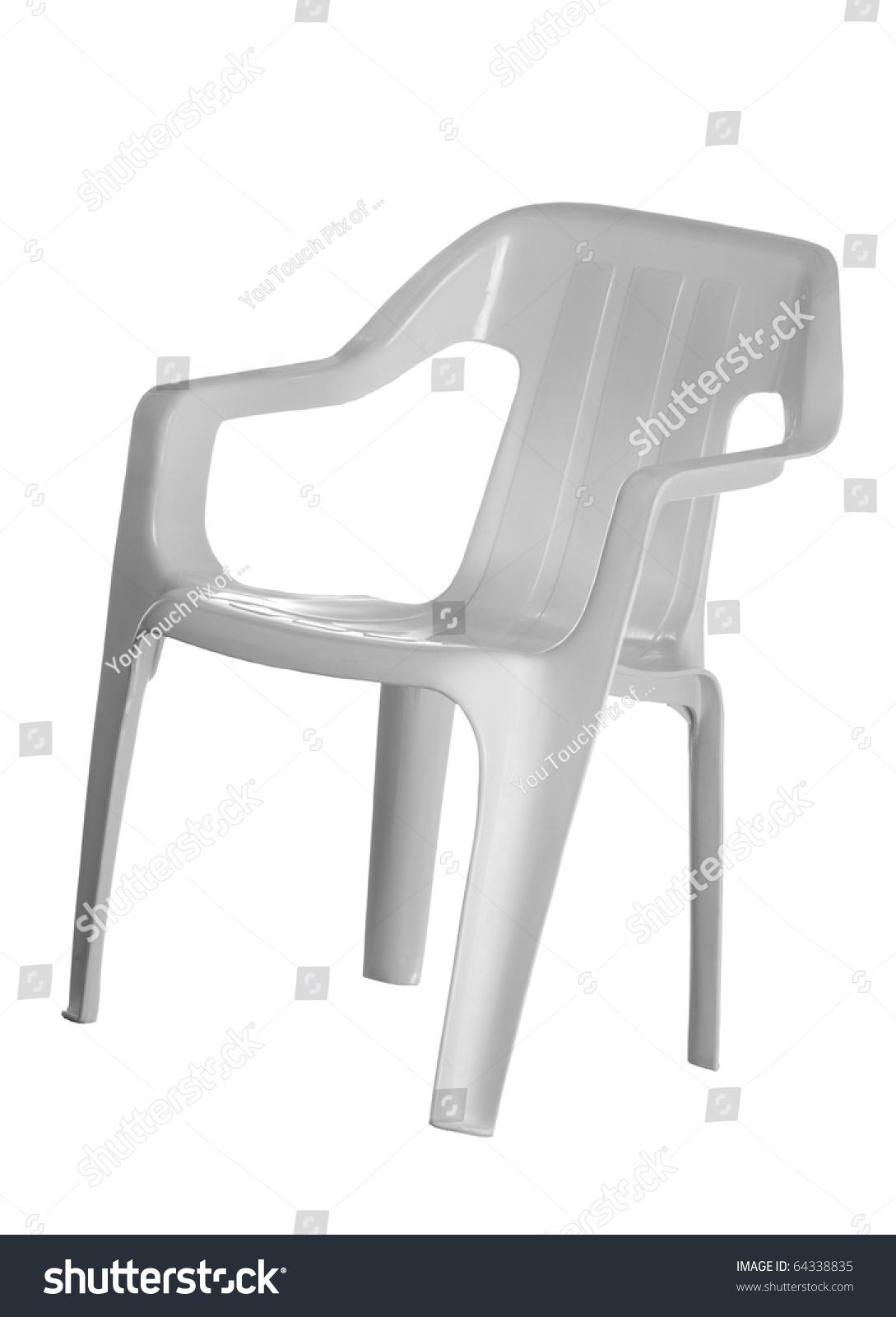 White plastic chair for kids isolated on white background stock photo 64338835 shutterstock - Witte plastic stoel ...
