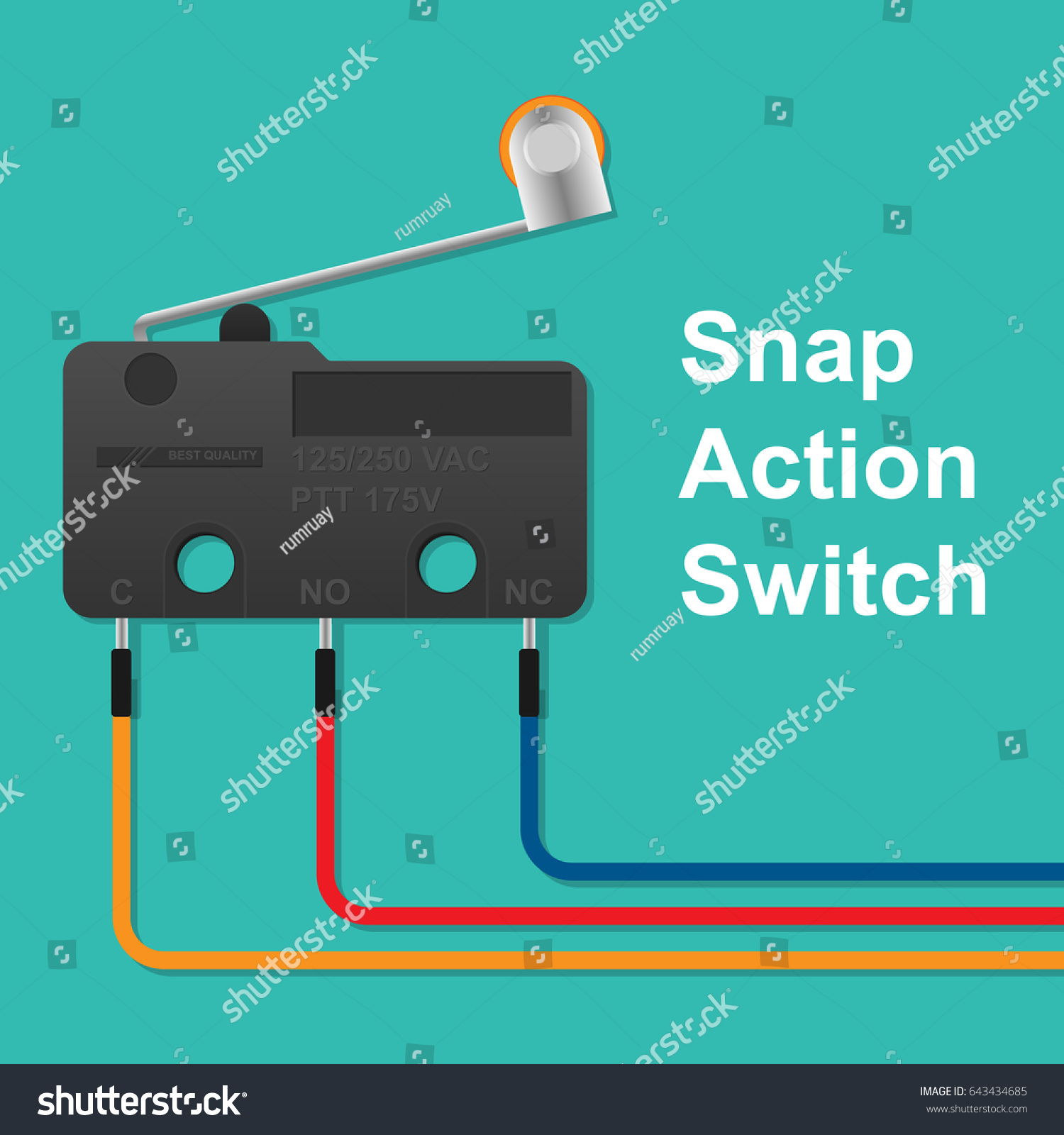 snap action switch with wiring
