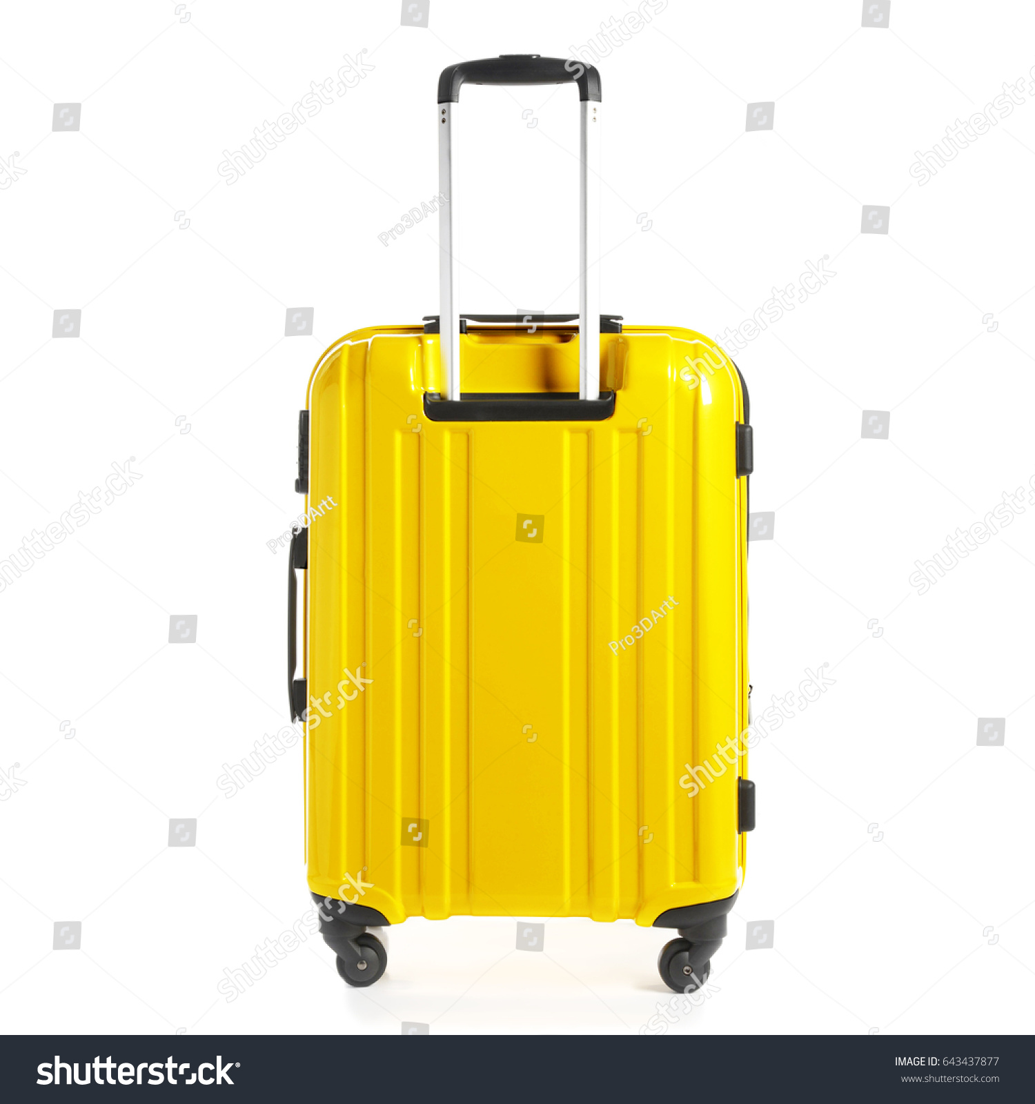 Yellow Trolley Travel Bag Isolated On Stock Photo Edit Now