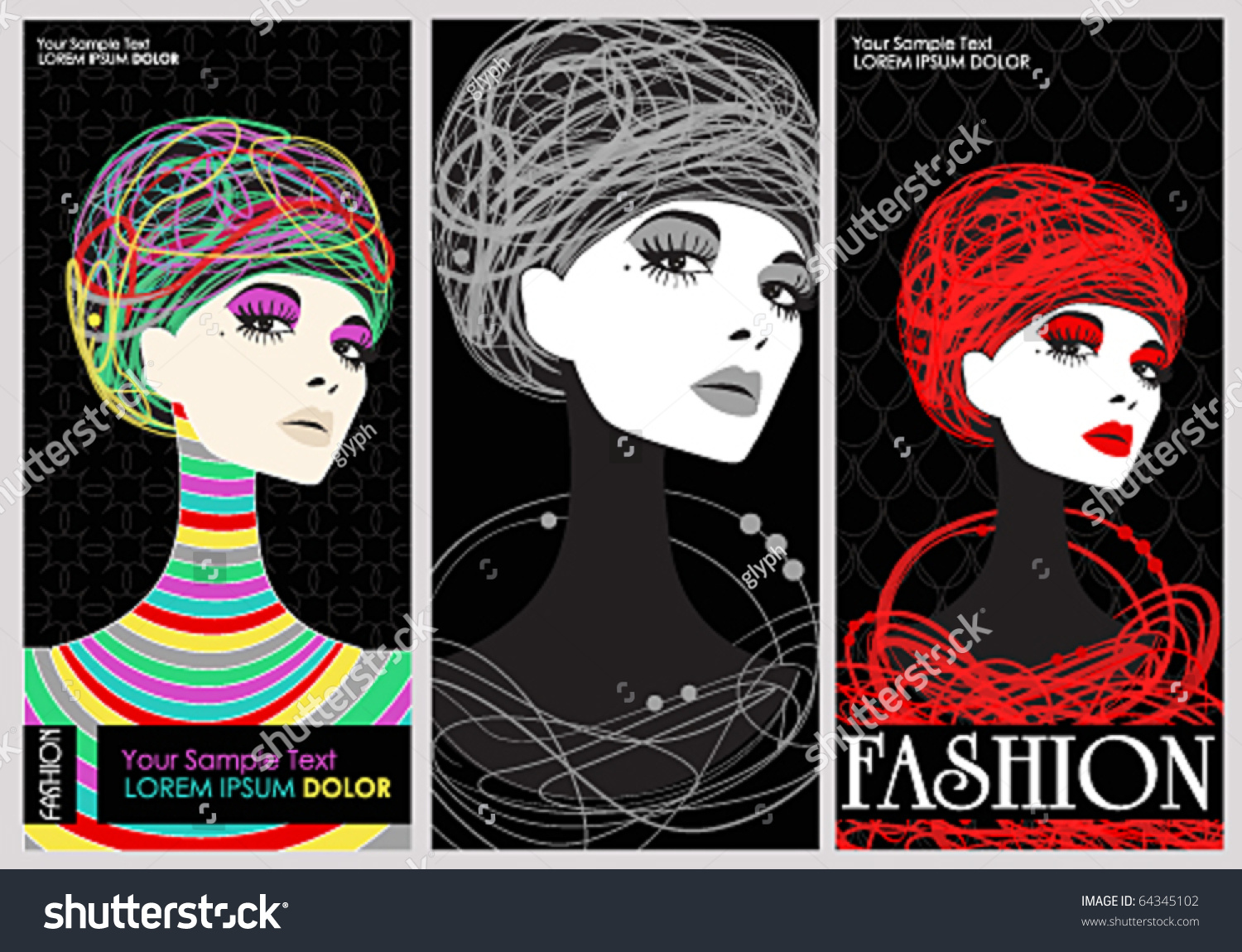 vector elegant fashion banners stock vector 64345102