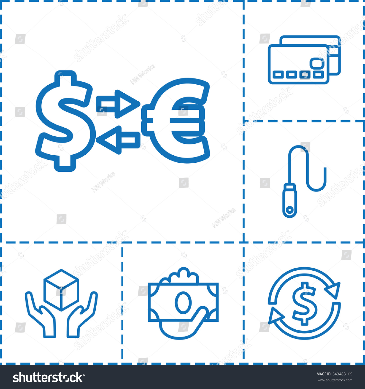 Transfer Icon Set 6 Transfer Outline Stock Photo (Photo, Vector ...