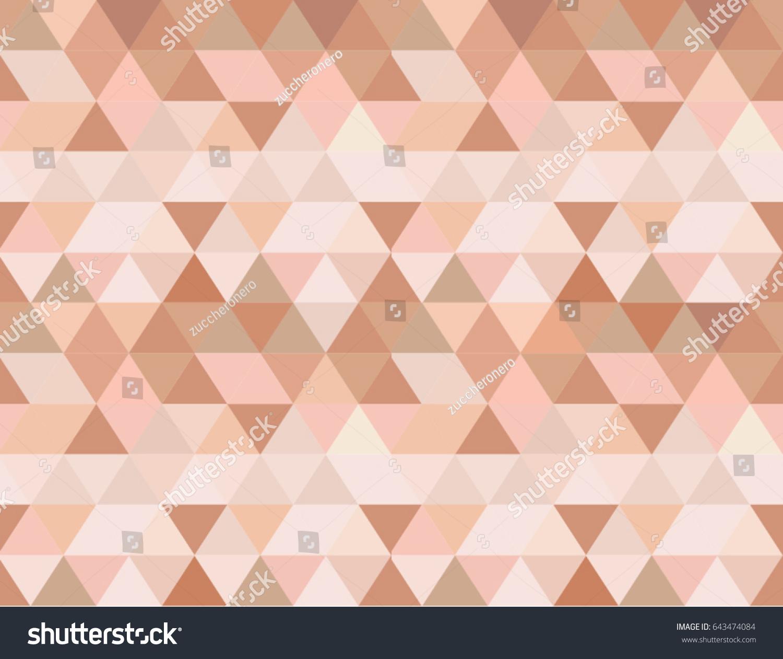 Rose Gold Seamless Vector Background Geometric Stock Photo Photo