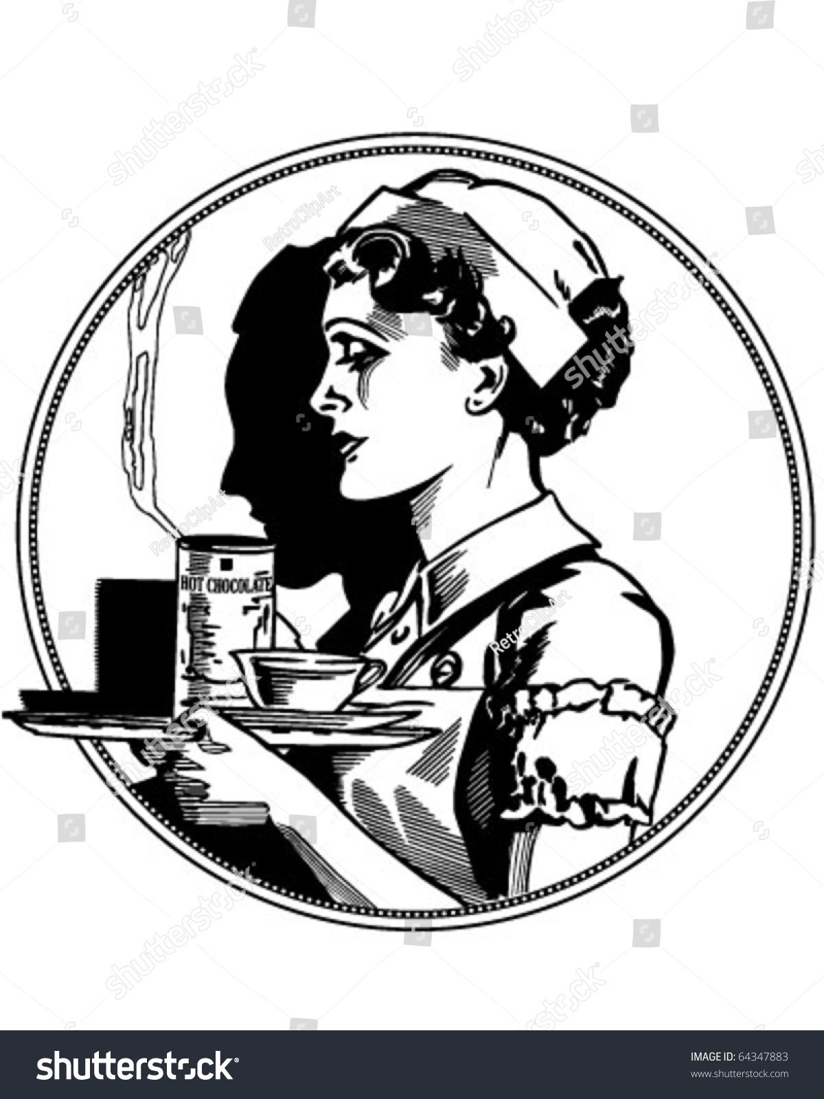 Nurse Icon Retro Clipart Illustration Stock-Vektorgrafik (Lizenzfrei ...