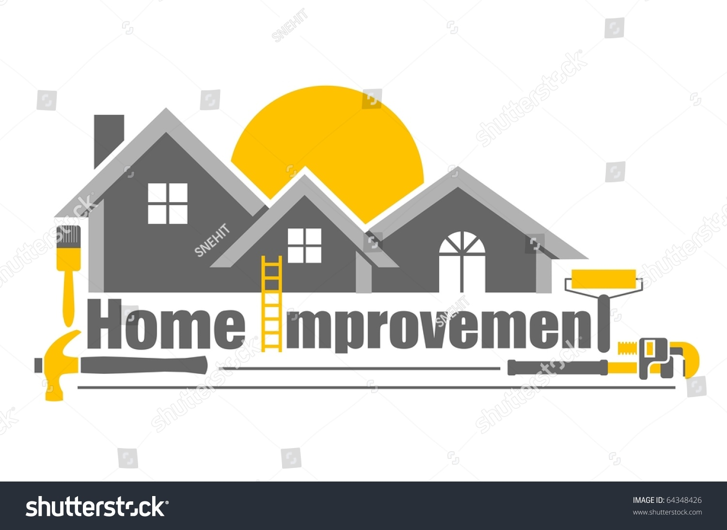 Vector illustration home improvement icon stock vector for A to z home improvements