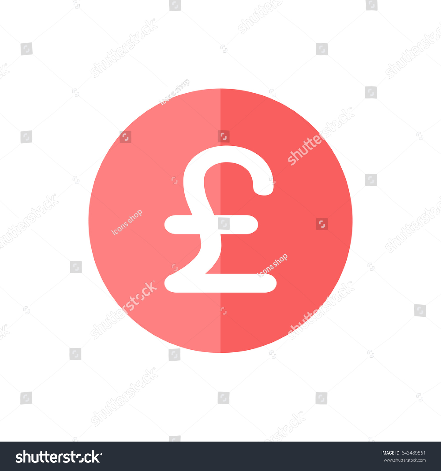 Pound Currency Icon Trendy Flat Style Stock Vector 643489561
